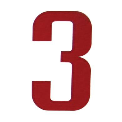 Numero 3 adesivo, 5 x 3.5 cm