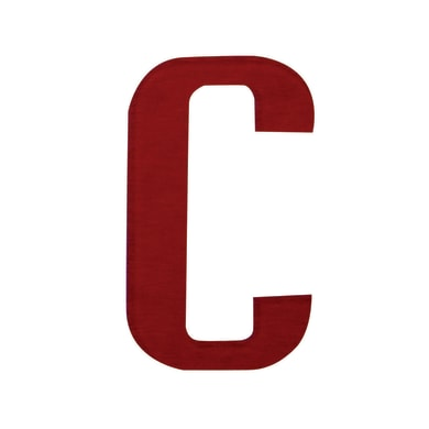 Lettera C adesivo, 10 x 6 cm