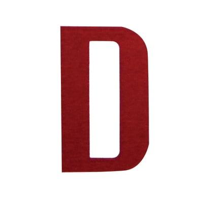 Lettera D adesivo, 3 x 2 cm