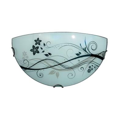 Applique classico Lotus bianco, in vetro, 16x32 cm, LUMICOM