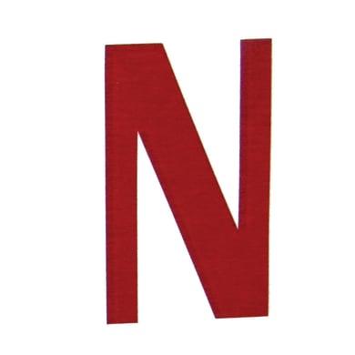 Lettera N adesivo, 15 x 10 cm