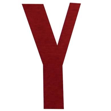 Lettera Y adesivo, 15 x 10 cm