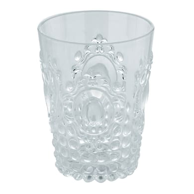 Bicchiere porta spazzolini Jolie in resina trasparente