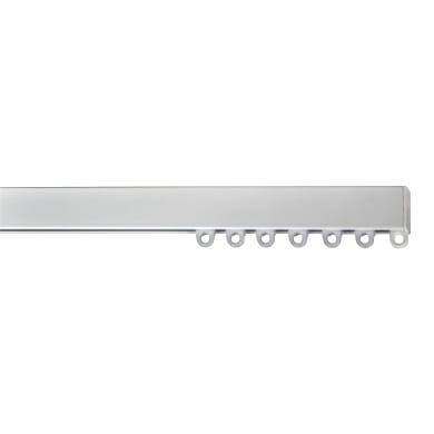 Binario per tenda arricciata, singolo, strappo, bianco, in alluminio, 300 cm