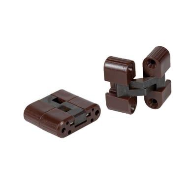 Cerniera invisibile acciaio 30 x 33 mm 2 pezzi