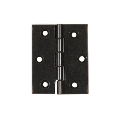 Cerniera piana 40 x 50 mm, acciaio, 2 pezzi