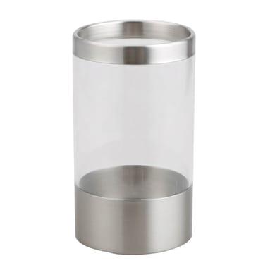 Bicchiere porta spazzolini Loft in acrilico trasparente