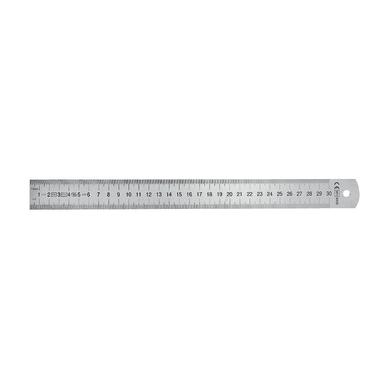 Righello quadrato in inox 30 x 3 cm