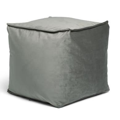 Pouf Viki grigio / argento 45 x 45cm