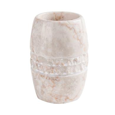Bicchiere porta spazzolini Merapi in marmo beige