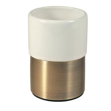 Bicchiere porta spazzolini Modena in ceramica bianco