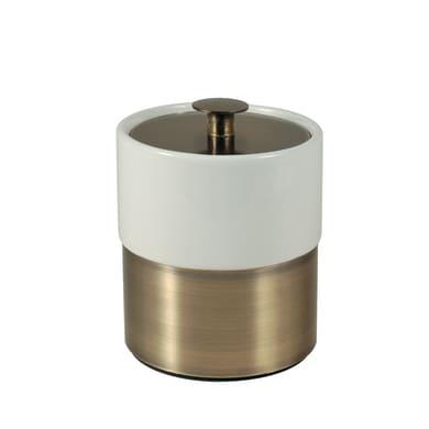 Porta cotone Modena in ceramica bianco bronzo