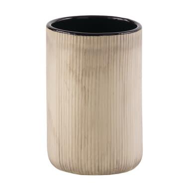 Bicchiere porta spazzolini Naomi in ceramica grigio