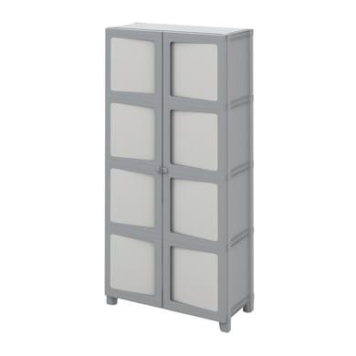 Armadio xl Modulize L 89 x P 40 x H 180 cm grigio antracite e grigio chiaro