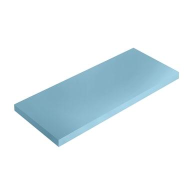 Mensola Spaceo L 36 x P 15.5 cm, Sp 1.8 cm blu