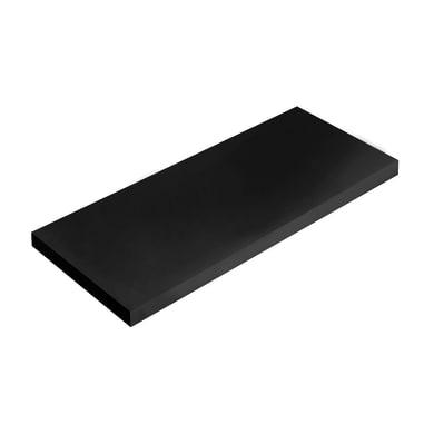 Mensola Spaceo L 36 x P 15.5 cm, Sp 1.8 cm nero