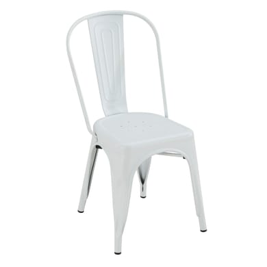 Sedia in acciaio Industrial colore bianco