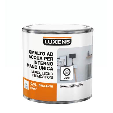 Vernice di finitura LUXENS Manounica base acqua bianco lucido 0.5 L