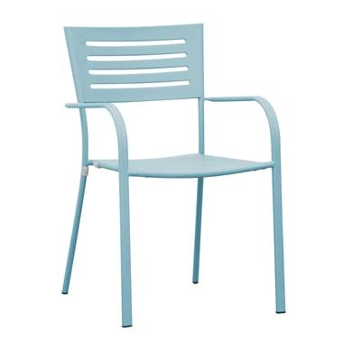 Sedia con braccioli in ferro CHF 16A colore azzurro