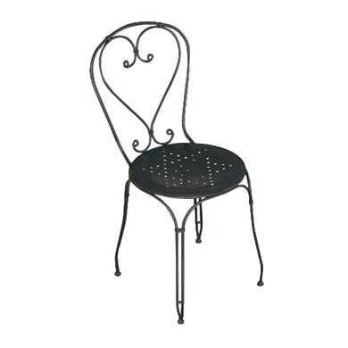Sedia in metallo CHF 03 colore nero
