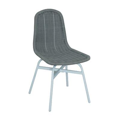Sedia in acciaio Ischia colore grigio