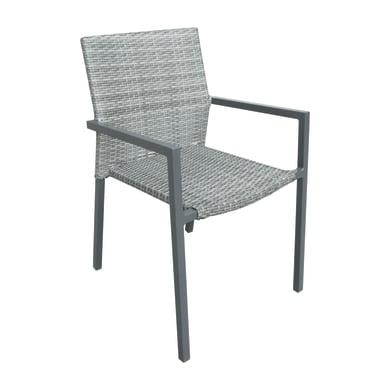 Sedia con braccioli Niagara NATERIAL colore grigio