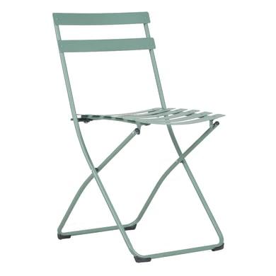 Sedia in acciaio FIAM colore verde