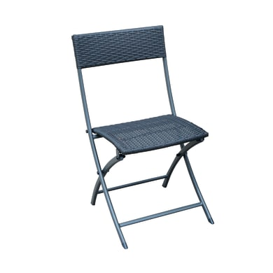 Sedia da giardino senza cuscino pieghevole in acciaio colore antracite