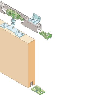 Kit montaggio per porta scorrevole 200 x 80 mm