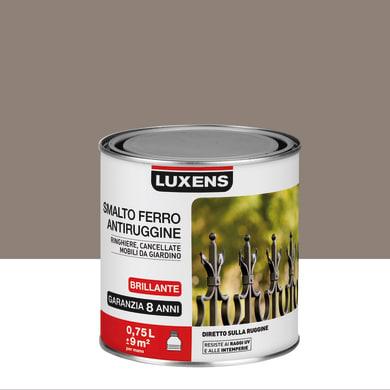 Smalto antiruggine LUXENS marrone talpa 0.75 L