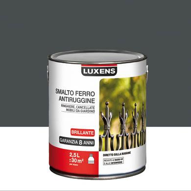 Smalto antiruggine LUXENS grigio zinco 2.5 L