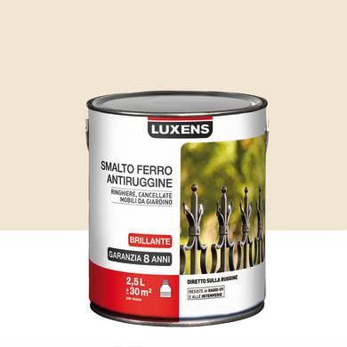 Smalto antiruggine LUXENS bianco avorio 2.5 L