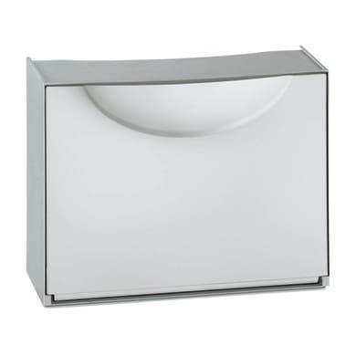 Scarpiera L 51 x H 39 x Sp 19 cm bianco