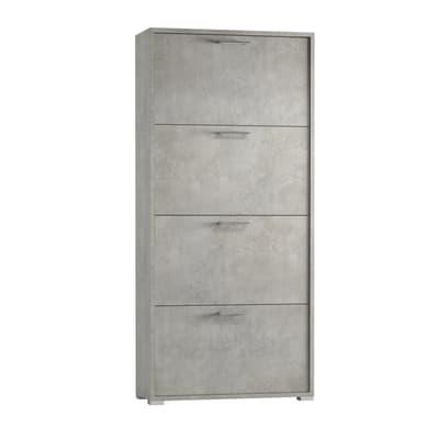 Scarpiera 4 ante L 67 x H 147 x Sp 28 cm grigio