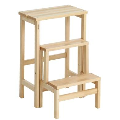 Scaletta VALDOMO Suegiù in legno 3 gradini