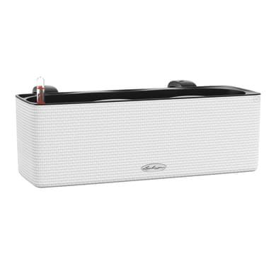 Cassetta portafiori Color LECHUZA in plastica bianco H 14 , L 40