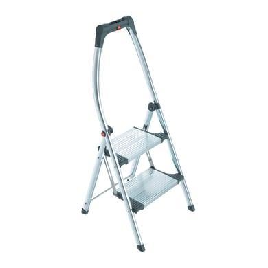Scala HAILO Living Step Plus in acciaio 2 gradini