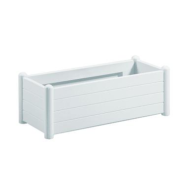 Fioriera Italia STEFANPLAST in polipropilene colore bianco H 35 cm, L 100 x P 43 cm