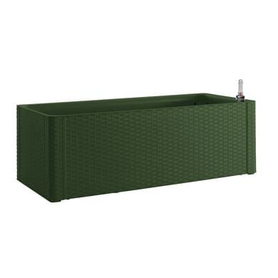 Cassetta portafiori Natural Deluxe STEFANPLAST in plastica verde H 33 , L 100 X P 43 cm