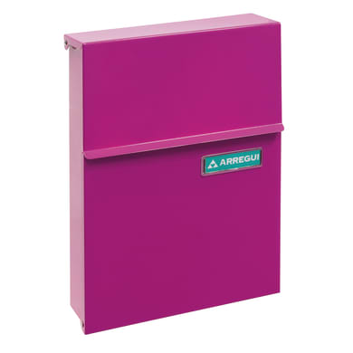 Cassetta postale ARREGUI formato Lettera, rosa , L 23 x P 0.65 x H 30.5 cm
