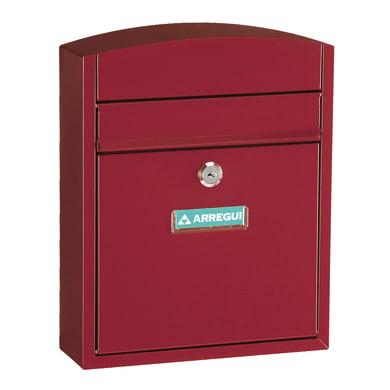 Cassetta postale ARREGUI formato Lettera, rosso , L 24 x P 0.95 x H 28.5 cm