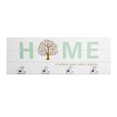 Cornice Tree per 4 fotografie 10 x 15  bianco