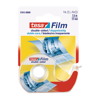Nastro bi-adesivo TESA 0.012 m x 12 mm bianco