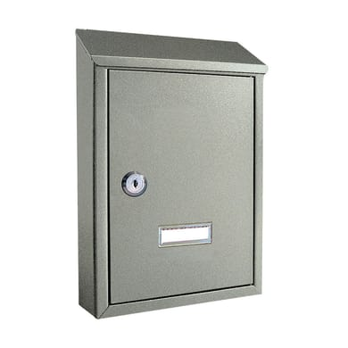 Cassetta postale ALUBOX formato Lettera, grigio / argento , L 21.5 x P 6.5 x H 30.5 cm