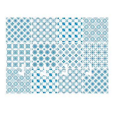 Bacheca portachiavi Arabesque 4 ganci multicolore 200 x 150 mm x 1 cm