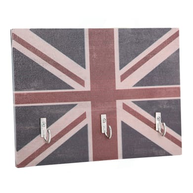 Bacheca Union jack 4 ganci multicolore 200 x 150 mm x 1 cm
