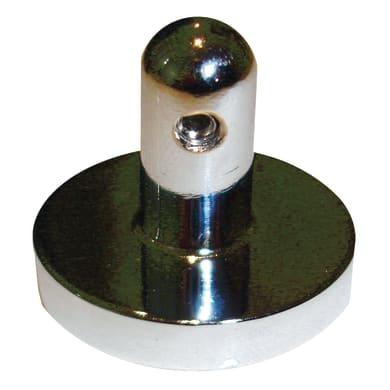 Supporto centrale rosetta Infinity in ferro cromo lucido13 cm