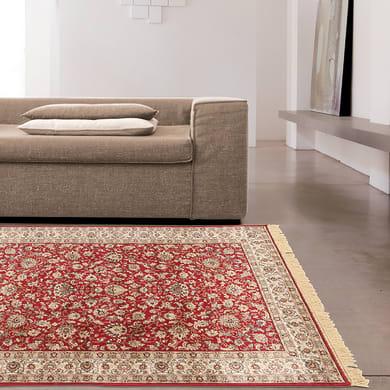 Tappeto persiano Fashian hereke 2 in viscosa, rosso, 160x230 cm