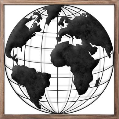 Quadro su tela The Globe 40x40 cm