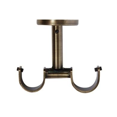 Supporto doppio aperto Ø28mm Tarim in metallo oro satinato